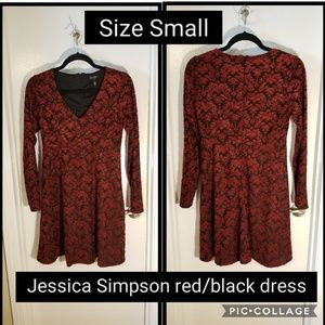 Jessica Simpson red/black dress size small